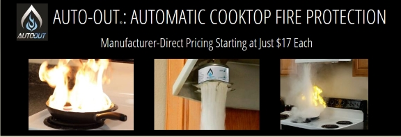 Auto-Out automatic cooktop fire protection